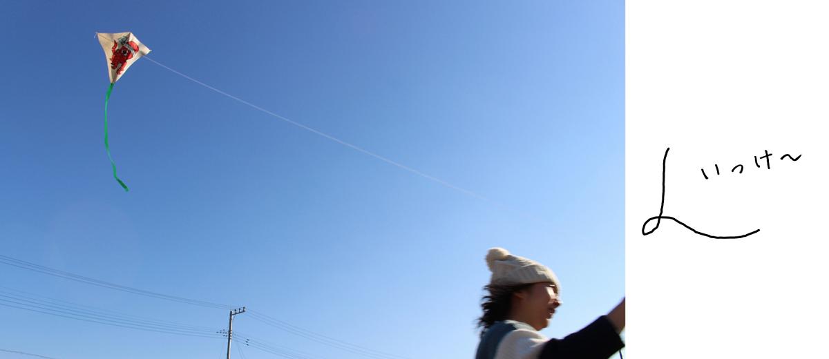 春日部,凧,凧あげ,空,ぷらっとかすかべ,冬,正月