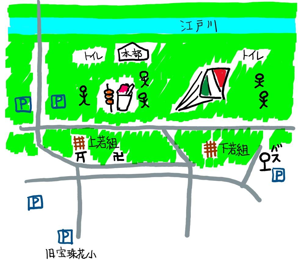 大凧あげ祭り,春日部,地図,江戸川